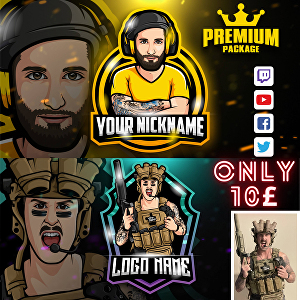 I will design youtube, gaming twitch, mascot and avatar logo