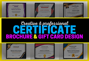 I will do professional certificate design