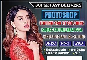 I will do photoshop editing within 24 hour