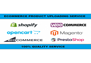 I will Upload 101 Products on your Ecommerce website