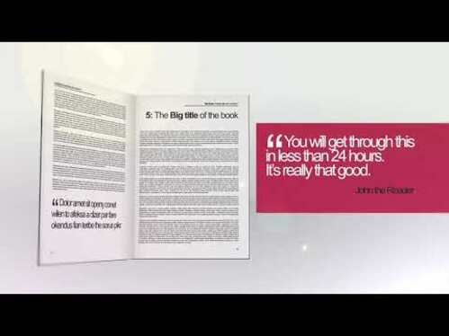 create this  new Book Promotional Video