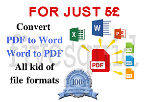 I will convert or edit any pdf and Microsoft office document