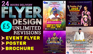 I will  design a beautiful event flyer and party or club flyer