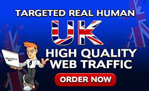 I will drive 5000 organic targeted high quality UK web traffic to your website