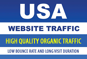 I will drive organic, keyword targeted traffic exclusively from USA