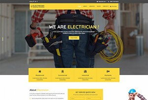I will make plumbing, electrician service website with wordpress