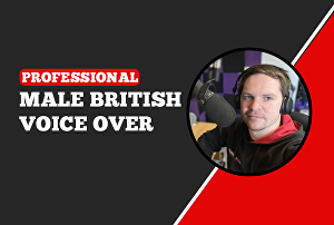 I will record your Professional Male British Voice over - 150 Words