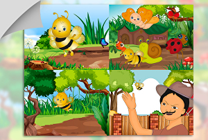 I will draw awesome cartoon illustration for children book