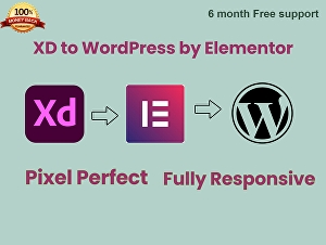 I will convert XD to WordPress with Elementor