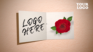 I will create holiday card with your logo