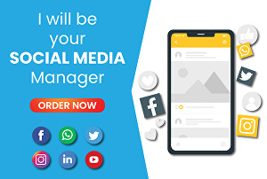 I will be your social media manager and content creator for your business