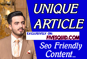 I will do SEO article writing, blog writing, content writing