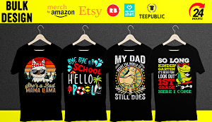 I will create T-Shirt designs with Typography, Graphics, Vintage effects, Retro for your POD busi