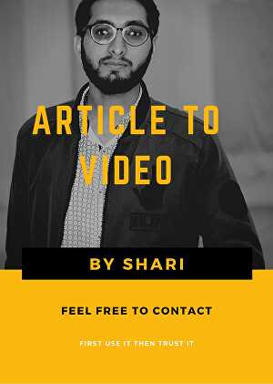 I will convert article to attractive video