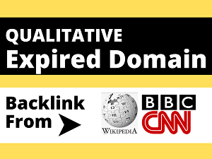 I will give you a niche relevant or general expired domain having  backlink from Wikipedia, BBC,