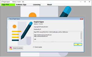 I will provide you with Digital Signer Lite for digital signature
