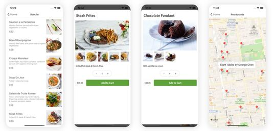 do a mobile app that uses Flutter or react native for both Android and iPhone