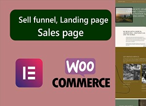 I will build sell funnels, landing Page, Sale page using Elementor and Woocommerce