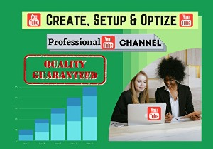 I will Create, Set up, Design, Optimize YouTube Channel and give a professional look