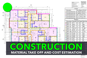 I will do material take off and cost estimation for all construction trades or projects