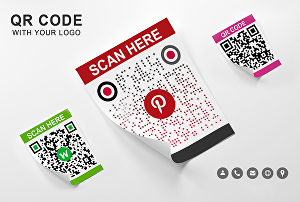 I will create modern QR code with your logo any image