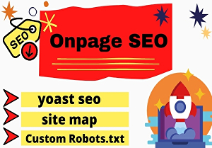 I will do  onpage SEO and technical onpage optimization of wordpress website