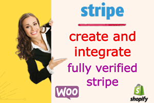 I will create and integrate verified stripe for your woocommerce, shopify websites