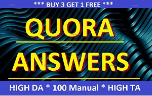 I will boost your website by 300 words 25 unique Quora Answers with contextual SEO backlink