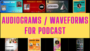 I will create stunning audiogram or waveform for your podcast