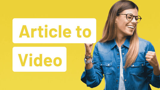 convert article to video or blog post to video with HD voice over