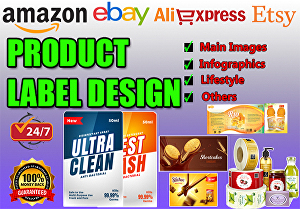 I will design professional product label, stickers in 24 hours
