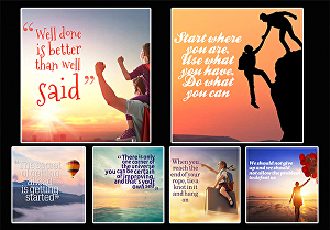 I will design 250  motivational quotes with your logo and user name