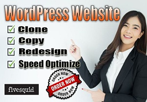 I will clone or copy or redesign your website with WordPress