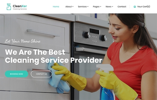 build house office cleaning booking WordPress website
