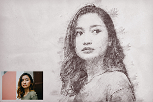 I will draw a digital realistic pencil portrait of your photo