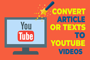 I will convert article to video of 3-4 minutes video for youtube with voice over for passive inco