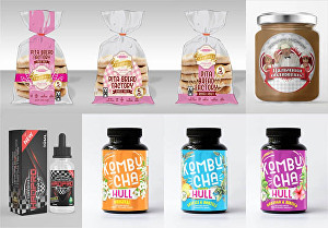 I will do premium food or bakery label, box, packaging, pouch bag