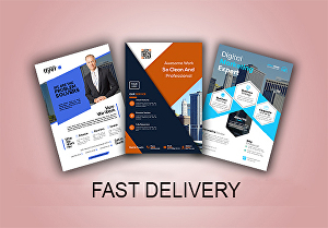 I will design an excellent business, food, corporate, event flyer with poster and banner