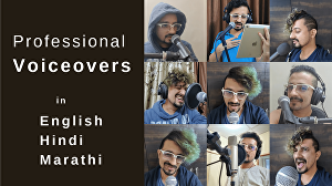 I will record a professional voiceover in English (Indian accent)
