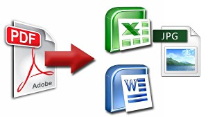I will convert any scanned pdf to excel, word and text