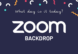 I will design great looking zoom meeting backdrop or background