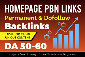 I will create 50 homepage PBN seo dofollow backlinks on aged domains