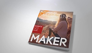 I will create a professional magazine and book video