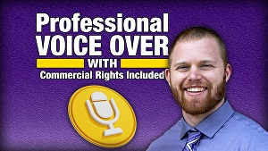 I will record a conversational and professional American male voice over