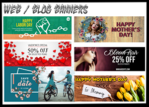 I will design web banners