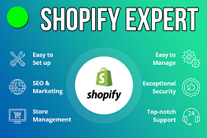 I will be your Shopify developer and Shopify expert to design Shopify Website