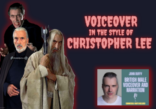 record a commanding or sinister voice over / character voice in the style of Christopher Lee