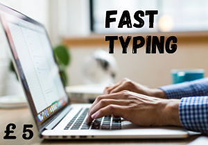 I will be your pro typist and do fast typing job, data entry work, PDF to Ms word typing.