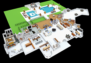 I will create your 3d floor plan with furniture