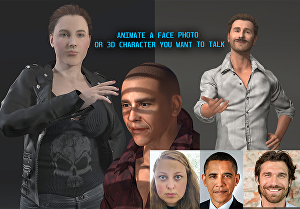 I will  animate a face photo or character you want to talk